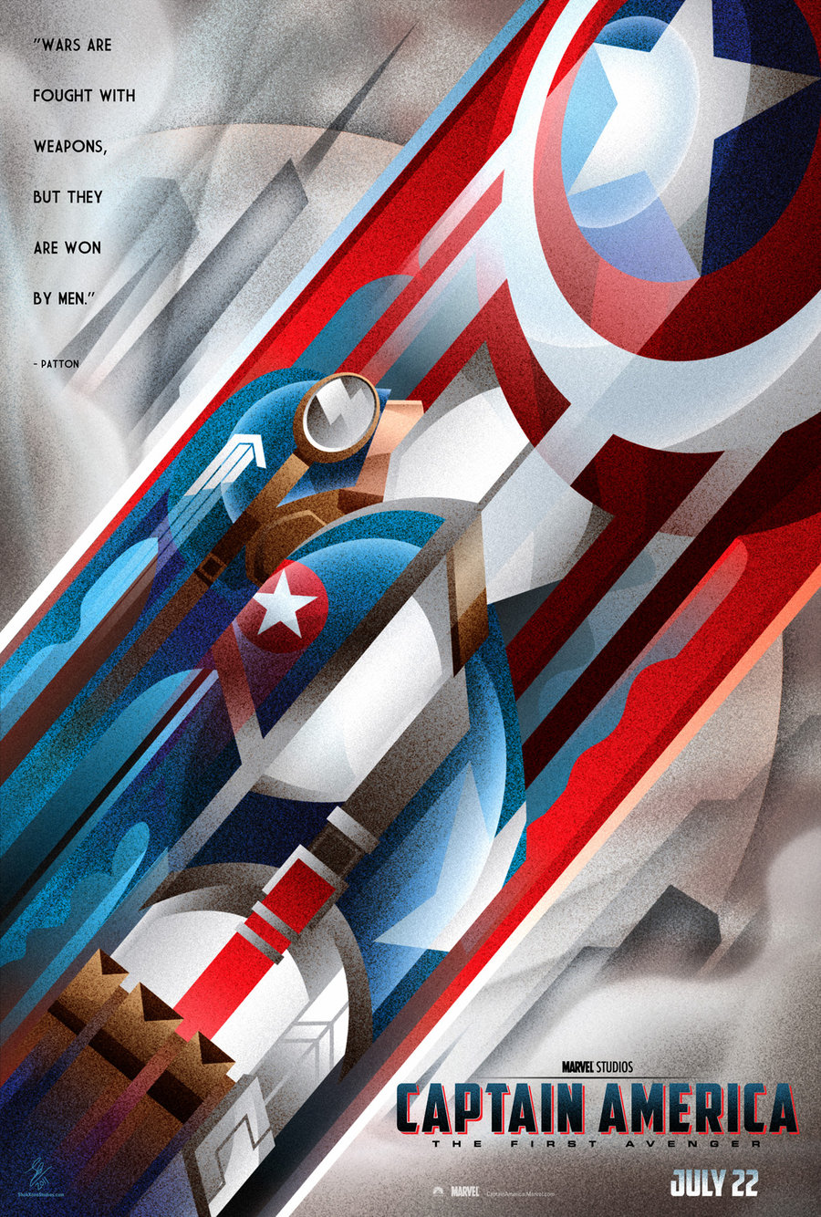 fan art of the week captain america by josh gilbert