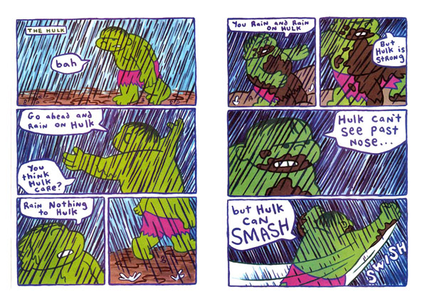 Hulk vs. The Rain from Coober Skeber #2: Marvel Benefit Issue(1997)