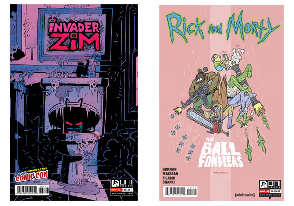 Invader Zim #1 NYCC variant & Rick and Morty #6 variant by MacLean