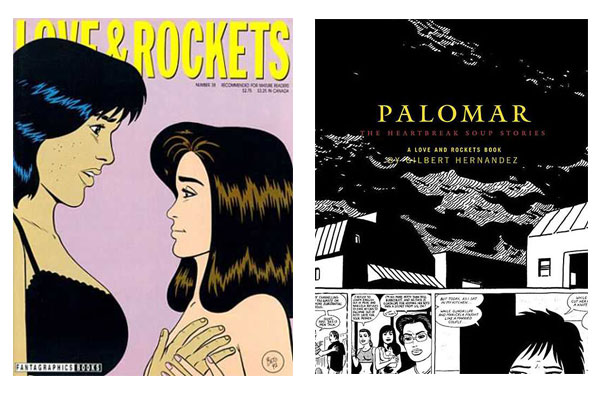 Love & Rockets #38 and Palomar HC collection