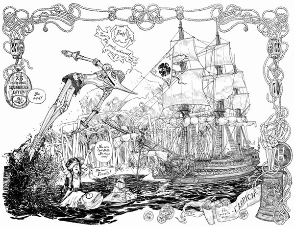 Cursed Pirate Girl art by Jeremy Bastian