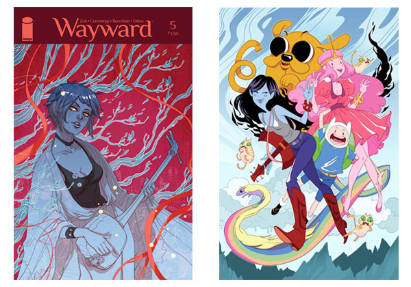 Wayward #5 cover & Adventure Time by Marguerite Sauvage