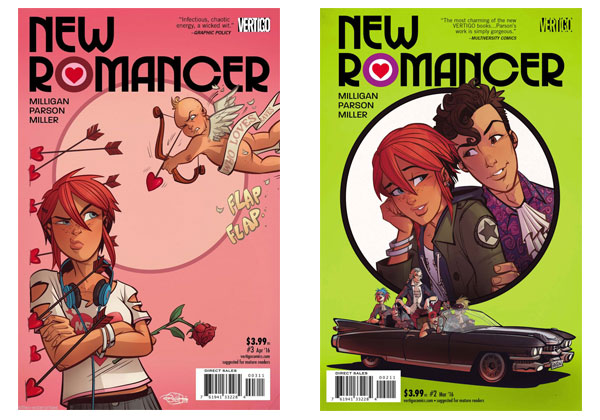 New Romancer #2 & #3 covers