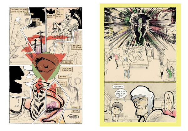Copra interior pages by Michel Fiffe