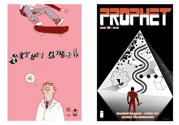 Streey Angel #1(Slave Labor) & Prophet #38 covers by Jim Rugg