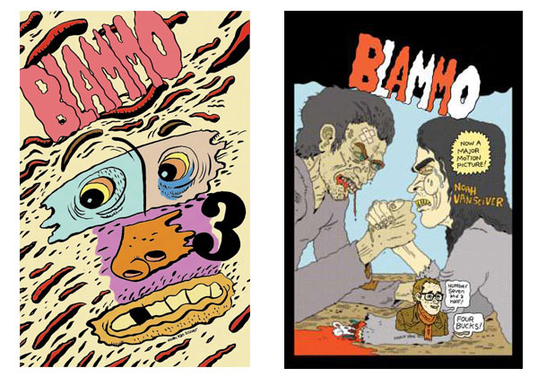 Blammo covers by Noah Van Sciver