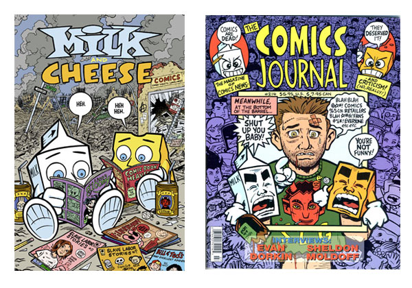 Milk and Cheese & The Comics Journal #214 by Evan Dorkin