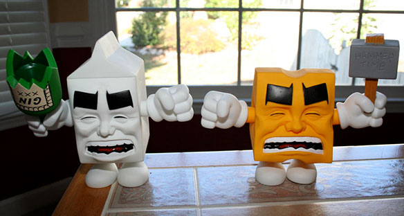 Milk and Cheese figures