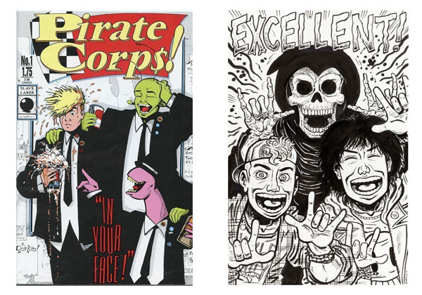 Pirate Corps & Bill and Ted's Excellent Adventure by Evan Dorkin