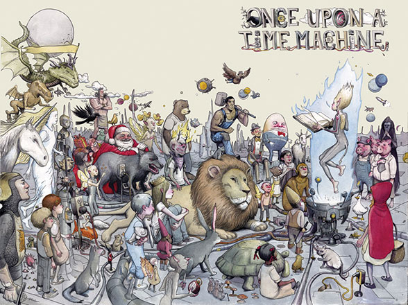 Once Upon a Time Machine cover by Farel Dalrymple